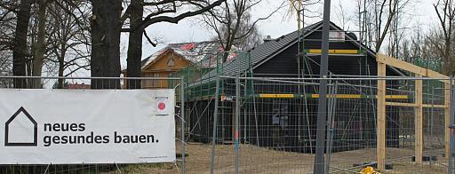 Holzhaus Baustelle Stiller