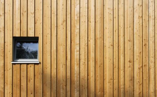 Nachaufnahme Holzfassade