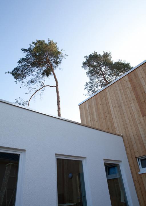 Verbindung Altbau und Neubau aus Holz